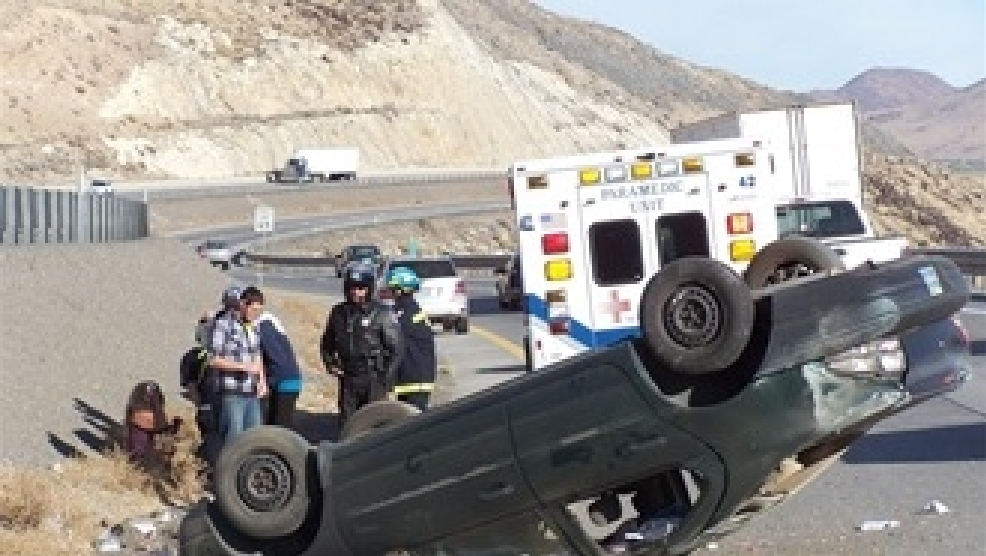 Rollover Accident Slows Traffic on I-80 | KRNV