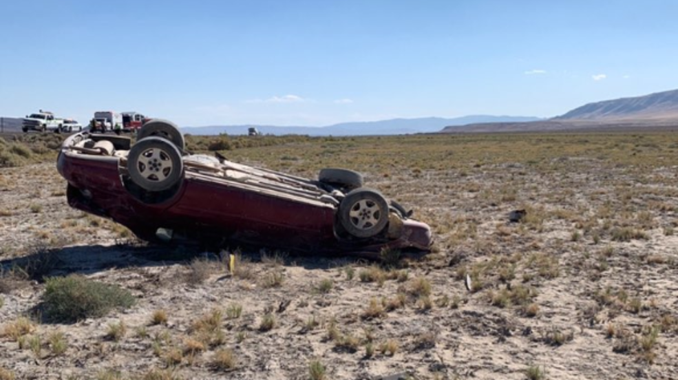 Two ejected after single rollover crash on I-80 in Fernley