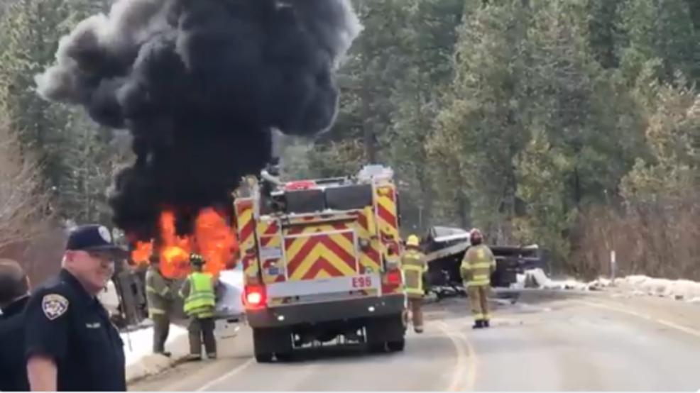 Reno man dies after fiery tanker crash on Hwy  20 in Sierra