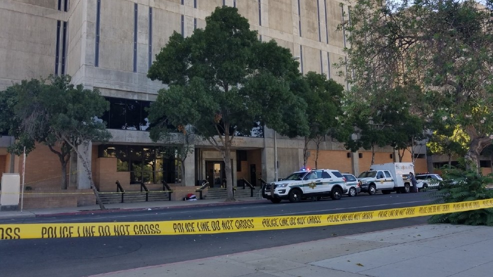 2 officers shot by jail visitor in Fresno | KRNV